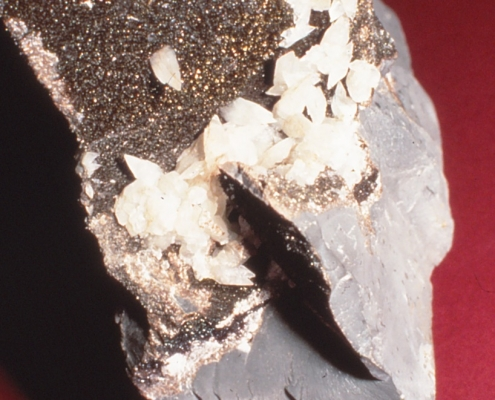 A rock with smaller minerals embedded