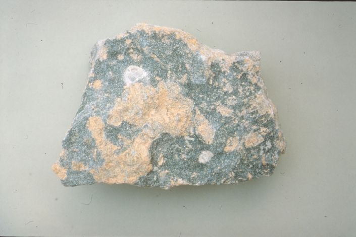 Beige and gray mottled rock